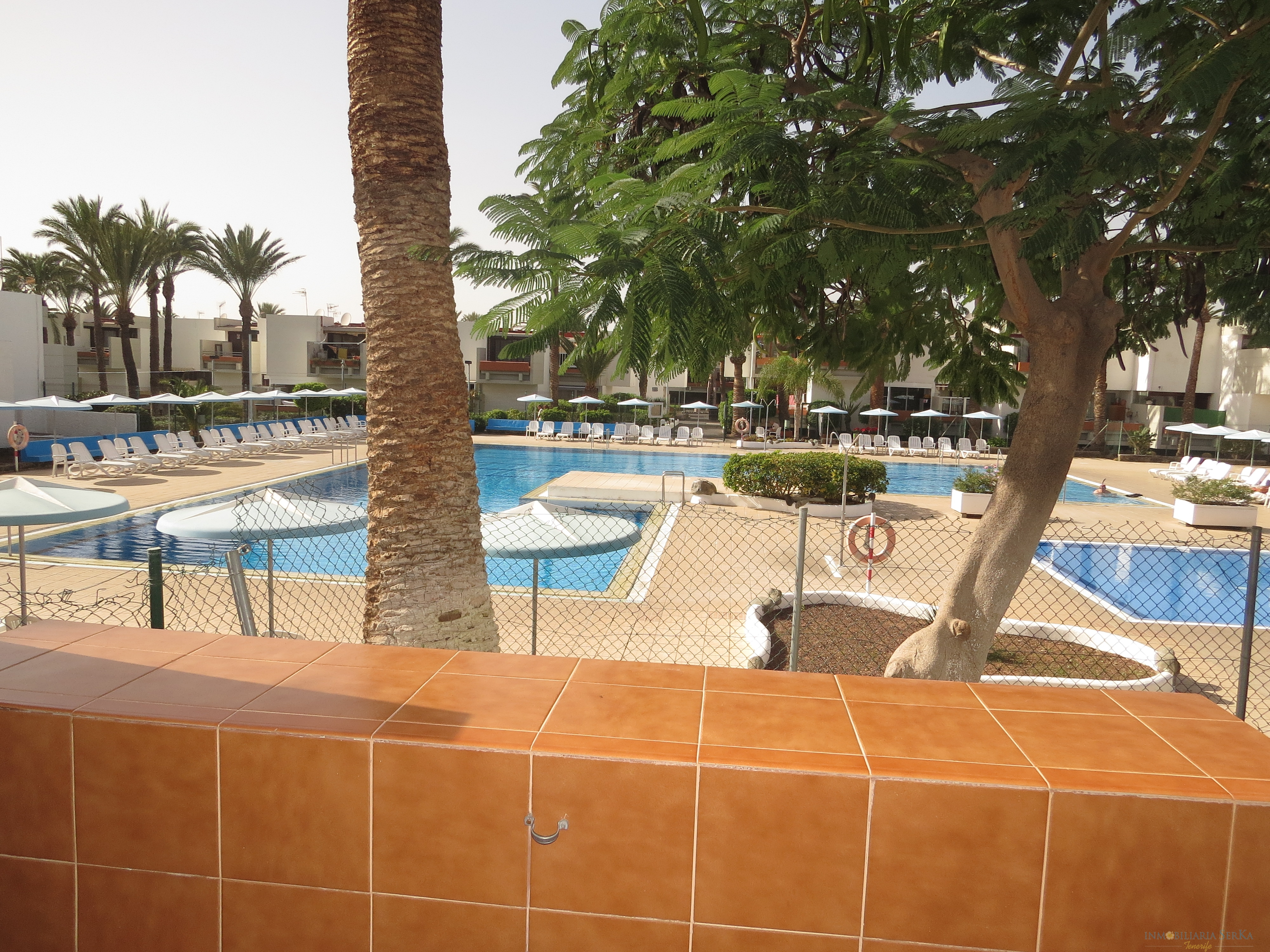Nice apartment with easy access and terrace with pool view